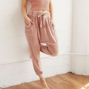 Free People In The Slick Of It Velour Harem Jogger